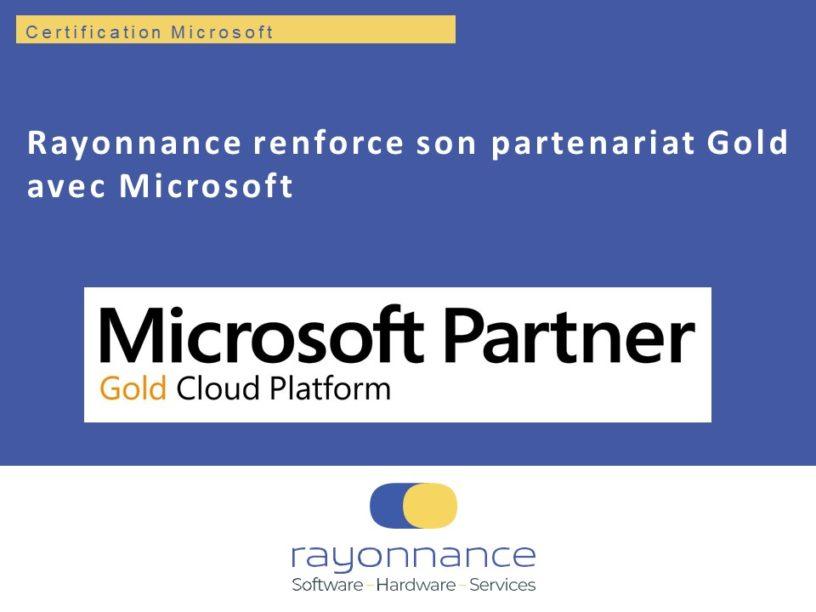 Certification Microsoft Gold